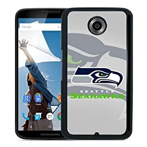Grace Protactive Seattle Seahawks 6 Black Case Cover for Google Nexus 6
