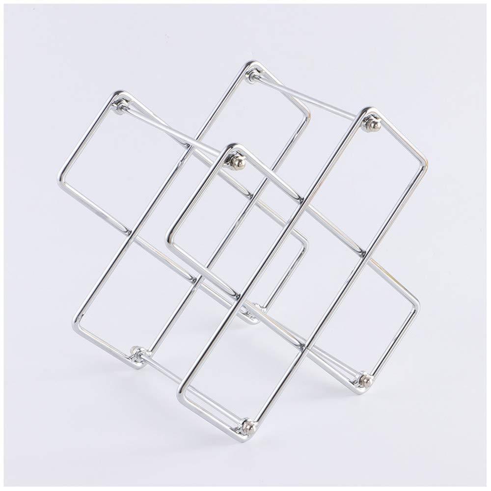 JASNO Casier à vin/casier / étagère/Rangement 50 Bouteilles - Design en métal brossé et géométrique - Amovible