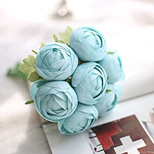 Big-Deal_Silk Flowers for Crafting Artificial Lotus Flower Bouquet Flower Decorative Simulation Flower for Wedding Birthday Decoration - (Color:2) 65