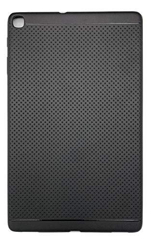 KANICT Dotted Finished Soft Rubbersied Back Case Cover for Samsung Galaxy Tab A 10.1 (SM-T515) (2019) -Black
