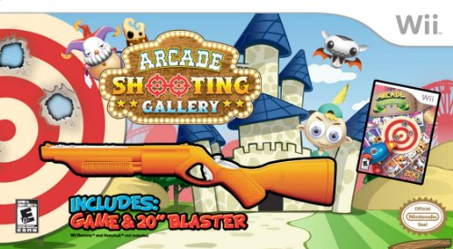Arcade Shooting Gallery with Blaster - Nintendo Wii (Bundle) by Zoo Games
