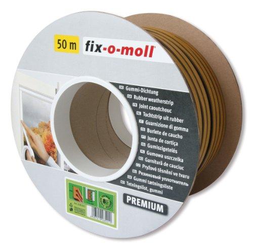 fix-o-moll E-Profildichtung Bobin 50 m 4 x 9 mm selbstklebend braun, 3585241