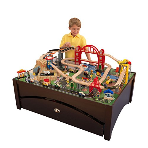KidKraft Metropolis Train Table & Set (Kidkraft Wooden Waterfall Mountain Train Table And Set)