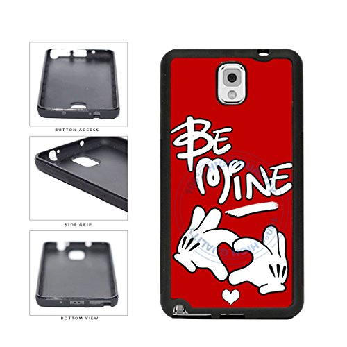 BleuReign(TM) Be Mine Character Hands With Heart TPU RUBBER SILICONE Phone Case Back Cover For Samsung Galaxy Note III 3 N9002