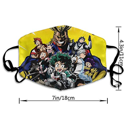 Hanging Decorations My Hero Academia Half Face Mouth Face Mask Mouth-Muffle,Ski Cycling Camping Fashion Mouth Masks for Unisex