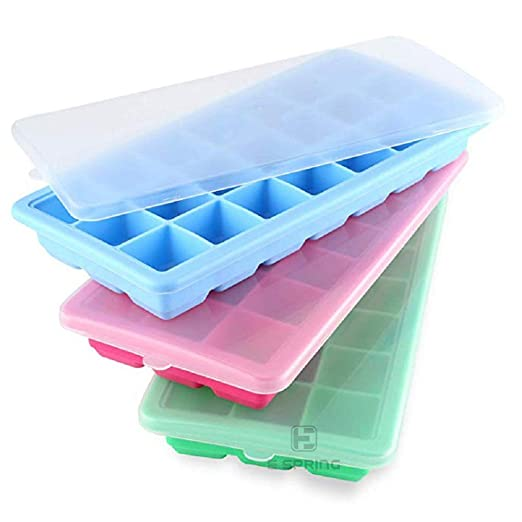 Compra Tubatu - Molde para cubitos de hielo, 3 piezas, con tapa de ...