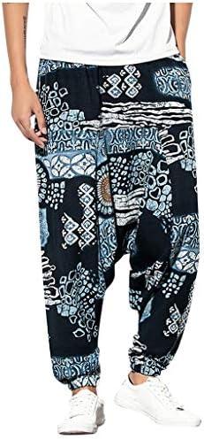 [해외]Men`s Cotton Linen Pants Vintage Aladdin Elastic Waist Drop Crotch Baggy Harem PantPockets / Men`s Cotton Linen Pants Vintage Aladdin Elastic Waist Drop Crotch Baggy Harem PantPockets