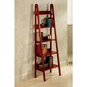 """Ladder 18""""w Bookshelf, 18""""W, DARK WALNUT"""