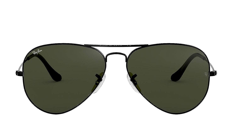 9c6e6a2170ea Amazon.com: Ray Ban RB3025 L2823 58M Black/Gray Green Aviator: Shoes