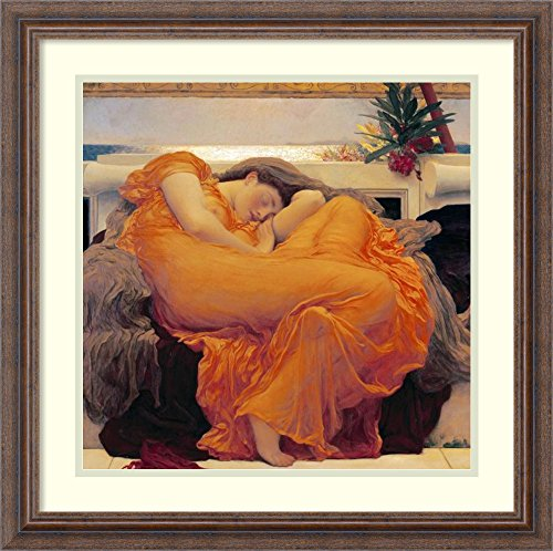 Framed Art Print 'Flaming June' by Lord Frederick Leighton - Flaming June Framed Print