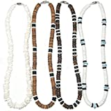 Native Treasure - 16'' Set of 4 Puka Shell Necklaces - 8mm (5/16'')