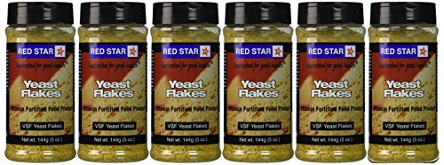 Red Star Nutritional Yeast - VSF Mini Flake -- 5 oz Each (Pack of 6)