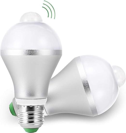 Bombillas LED E27 Con Sensor de Movimiento 5W 450lm 6500K Blanco ...