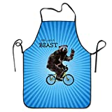 img - for California Bear On Bike Black Complete Lock Edge Cooking Apron Waterproof book / textbook / text book