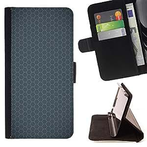 BullDog Case - FOR/HTC One M7 / - / Simple Pattern 24 /- Monedero de cuero de la PU Llevar cubierta de la caja con el ID Credit Card Slots Flip funda de cuer