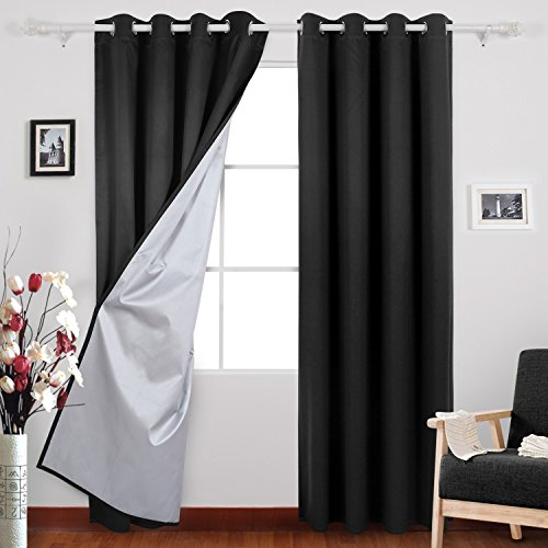 Deconovo Blackout Curtains Backside Grommet