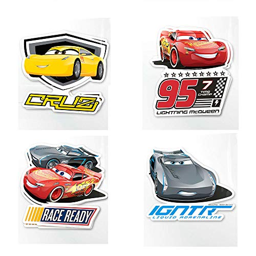 (Scentco Disney Pixar Cars 3 Jumbo Smickers - Set of 8 Scratch and Sniff Scented Stickers: Lightning McQueen, Jackson Storm, Cruz Ramirez)