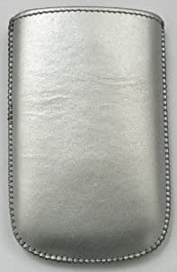 FLASH SUPERSTORE SILVER POUCH/CASE/SLEEVE/HOLDER (SIZE AA ) WITH PULL TAB MECHANISM SUITABLE FOR VODAFONE 543