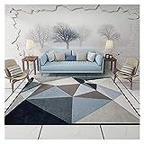Hotin Modern Carpets for Living Room Rectangle Geometric Area Rugs Large Anti-Slip Safety Carpet Kids Room Home Decorative Bedroom Rug
