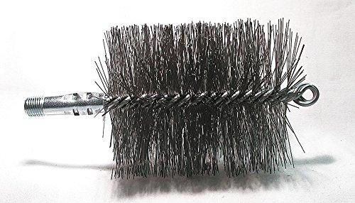 Flue Brush, Dia 3 3/4, 1/4 MNPT, Length 8 Dia Flue Brushes