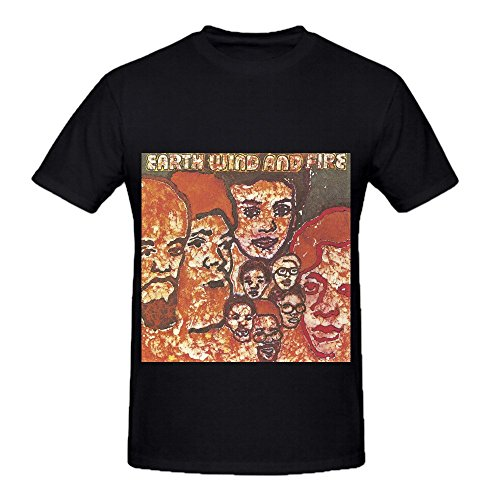 Earth, Wind & Fire Men O Neck Custom Shirt Black