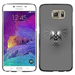 LECELL -- Funda protectora / Cubierta / Piel For Samsung Galaxy S6 SM-G920 -- Angel Robot --