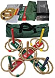 Mabua Ring Toss Indoor Outdoor Hookem Horseshoe Yard Games Kids Adults With 10 Quoits and Carry Bag. Toys for children boys girls - Also Available: For SALE is our 10 Quoits and 15 Plastic Ropes