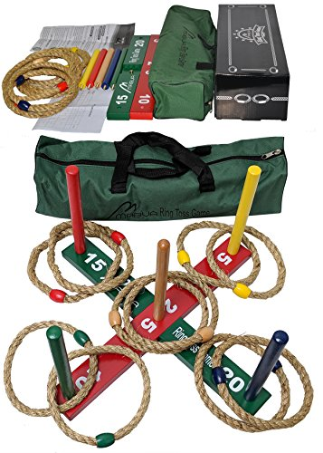 Mabua Ring Toss Indoor Outdoor Games Kids Adults With 10 Quoits And Carry Bag Toys