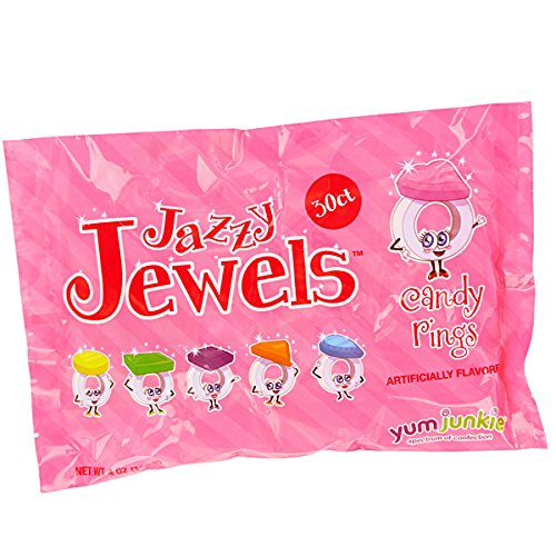 Jazzy Jewels Candy Rings: 30-Piece Bag (Candy Jewels)