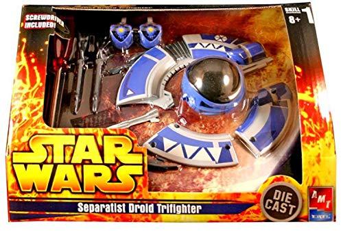 Star Wars Die Cast Model Kit Separatist Droid Tri-Fighter ()