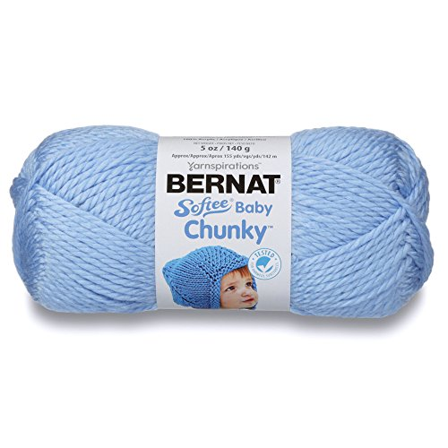- Bernat Softee Baby Chunky Yarn, Solid, 5 oz, Gauge 5 Bulky Chunky, Clear Skies Blue
