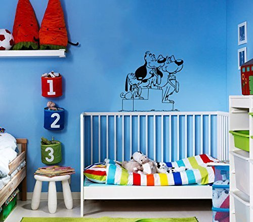 Vinyl Decal Mural Sticker Funny Dogs Children'S Nursery Kids Room Window Sv2098