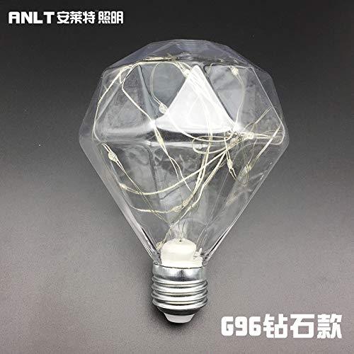 FairOnly 20LEDs Colorful Luminous Bulb for Wedding Stage Decor E27 85-265V Multicolored Flashing Lights G96 (Diamond) ()