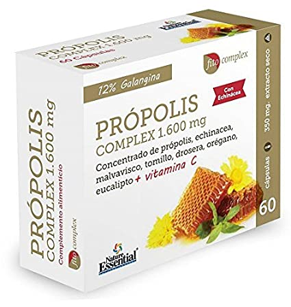 Propolis Complex 600 mg. 60 Cáps. NATURE ESSENTIAL