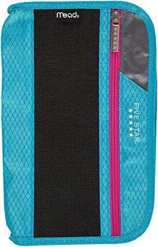 Five Star Xpanz Zipper Carrying Case / Pouch for Pencil, Pen, Supplies - Puncture Resistant, Teal/Purple]()