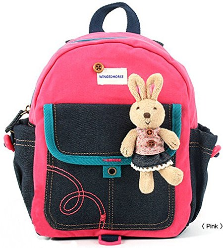 Kid Toddler Walking Safety Harness with Cute Teddy Bear/Bunny Backpack - Sold and Ship From USA (Pink Bunny) (Harness Teddy Bear)