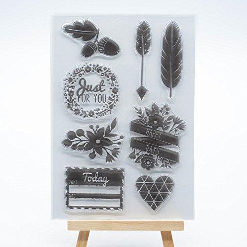WooYangFun Joyful Home 1pi/èce Juste pour Vous en Caoutchouc Tampon Transparent D/écoration pour la Cr/éation de Cartes et Scrapbooking