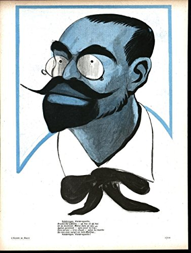 Man Corrective Lens Glasses French by Camara 1903 antique color lithograph print ()