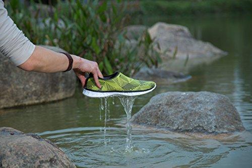 AVADAR Wasser Schuhe, Männer Frauen Wasser Schuhe Barfuß Quick Dry Aqua Schuhe für Schwimmen Walking Yoga See Beach Garden Park Fahren Bootfahren. Gelb