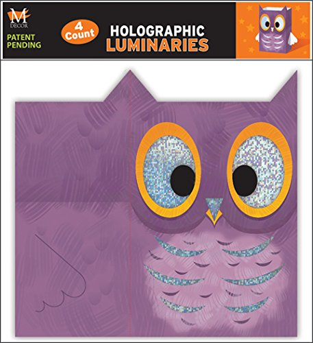 Mello Smello 4 Pack Holographic Halloween Owl Luminaries ()