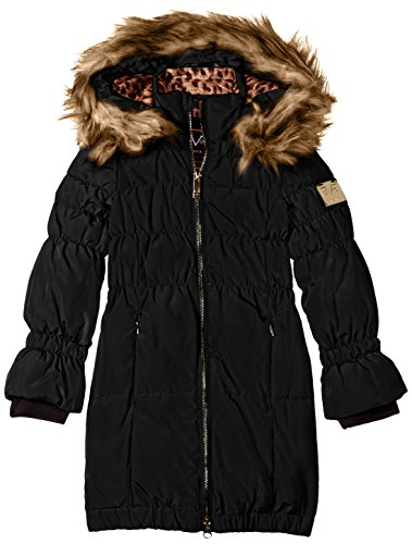 Versace 1969 Sportivo Little Girls' VG Long Down Coat, Black, 6X by Versace