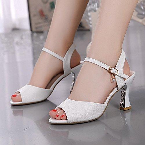 Zapatos Sandalias Toe Alto heelsWomen Sandalias Verano Se Peep BAJIAN LI Chanclas oras Zapatos Bajos wI6xA0