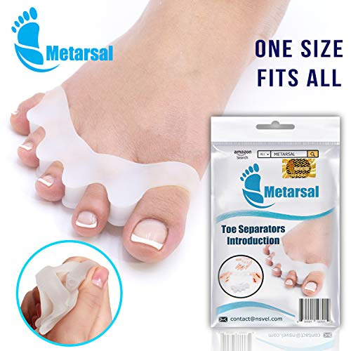 Metarsal Gel Toe Separator Rubber, Toe Stretchers, Toe Spacers, Walking and Dancing, Bunion Relief, Toe Strechers for Yoga, Toe Pad Kit for Men and Women, Toe Support (2 Pcs)