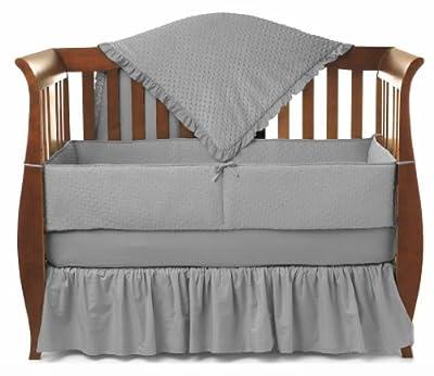 American Baby Company Heavenly Soft Minky Dot 4-Piece Crib Set