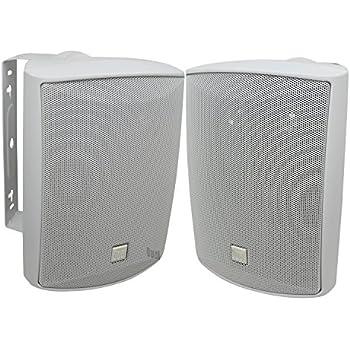 Dual Electronics LU53PW 5 ¼ inch 3-Way High Performance Indoor, Outdoor & Bookshelf Studio Monitor Speakers with Swivel Brackets & 125 Watts Peak Power (Sold in Pairs)