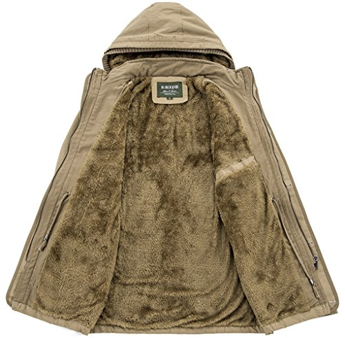 Trench Giacca Cappotti Jiinn Militare Uk88008 In Inverno Uomo Di Tasche Di Stile Nero Più Caldo Parka Cotone Classico Lana Spessore Staccabile Con Cappuccio Monopetto wxqCaCS6