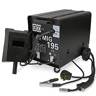 9TRADING 195 AMP DUAL MIG-195 230V Flux Core Auto Wire Welding Machine Gas No Gas Welder