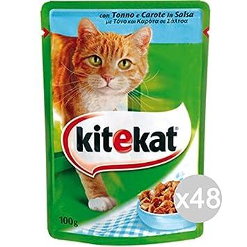 Set 48 KITEKAT Sobre Los Alimentos Cat 100 Tuna De Gatos: Amazon.es: Hogar