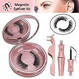 Magnetic Eyelashes, Magnetic Eyeliner Kit, Nivlan 3D Magnetic Eyelashes Magnetic Lashliner for Use with Magnetic False Lashes No Glue Reusable False Eye Lashes with Applicator