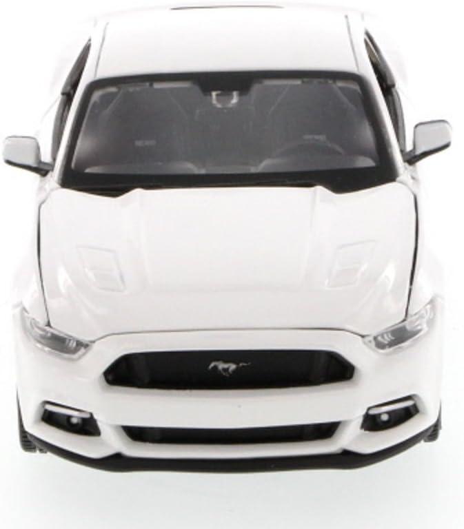 Ford Mustang GT 2015 Modelo de Coche Diecast Escala de Metal 1:36 Puertas de Apertura Detallada Modelo de Acci/ón de Retroceso Interior por Welly Amarillo